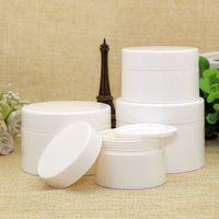 30pcs 50g weiße leere Plastikcreme-Behältergläser mit Schraubverschlüssen, Deodorantbehälter Kosmetikverpackungen Plastikzinnflasche