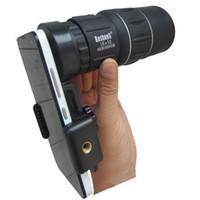 Teléfono celular Lente de la cámara Zoom Telescopio monocular móvil Alcance de la visión nocturna para Iphone Adaptador de montaje Fisheye Universal Dropshipping al por mayor
