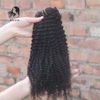 8A African American Clip In Human Hair Extensions 9pcs set 1...