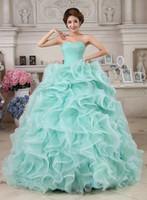 Sweetheart Neckline 2016 층 길이 댄스 파티 가운과 파티 드레스를 우아하게 뻗어 Orbalza 볼 가운 Quinceanera 드레스