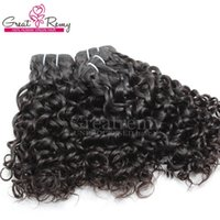 3pcs / lot 말레이시아 인간의 머리카락 weaves 염색 할 수있는 자연 머리 위사 웨이브 웨이브 큰 곱슬 레미 버진 헤어 weaves greatremy drow shipping