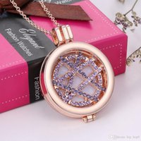 Aromatherapy Essential Oil Diffuser Necklace Jewelry Alloy M...