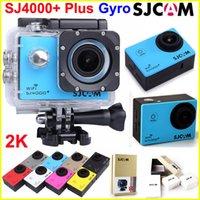 SJCAM SJ4000 + Plus caméra d'action WiFi avec caméras de sport de stabilisation gyroscopique 2K 30FPS enregistrement 1080p caméra Full HD étanche 170 lentille de voiture DVR