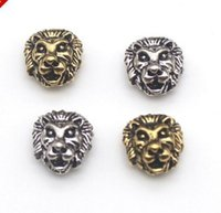 100Pcs Silver Gold Plated Lion Head Spacer Beads Jewellery M...