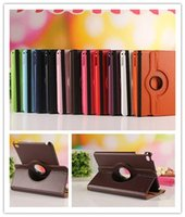 360 Degree Rotation Smart Stand PU Leather Case Cover For Ap...