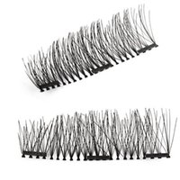 Triple Magnetic 3D False Eyelashes Eye Lashes Extension Reus...