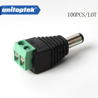 100pcs lot CCTV DC Male Power Jack Adapter Connector Plug CC...