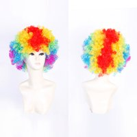 Z&F Afro Short Wig Clown Physics Cup Cosplay World Cup Wig H...