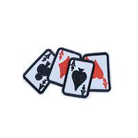 10pcs Carte de jeu Un patch pour sacs de vêtements de fer sur le transfert Applique Patch pour les enfants Jeans DIY coudre sur badge de broderie