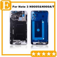 Samsung Galaxy Not Için OEM 3 LTE 4G N9005 VS N900A N900T Ön Ekran LCD Çerçeve Orta Çerçeve Konut + Ana Düğme Gümüş 10 ADET