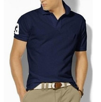 Big Size S- 6XL Polo Shirt Men Big Horse Camisa Solid Short S...