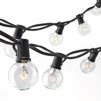 Patio Lights G40 Globe Party Christmas String Light, Warm Whi...