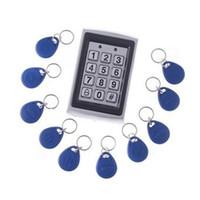 Metallfodral Dörråtkomstkontrollsystem med 10 nycklar