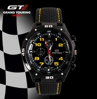GT WATCH Extreme Driver GT Racing Sports Men Militray Pilot Relojes Силиконовый ремешок Кварцевые наручные часы Fashion Trend Watch Drop Доставка