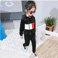 Hooded Sports Suit For Girls Teenagers 2017 Toddler Girl Clo...