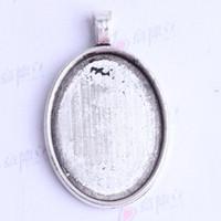 38.5*24.3*5.7 мм овальный Корк база подвески старинные антикварные серебро / бронза сплав цинк кулон DIY ювелирные изделия кулон fit ожерелье 100 шт./лот 2421