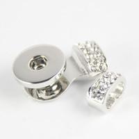 Noosa Ginger Snap Base bracciali nosa pezzi di gioielleria Accessori per gioielli Bottone a pressione Base di cristallo Accessorio di gioielli in lega fai da te