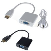 1080P HDMI Male to VGA Converter Adapter With Audio USB Cabl...