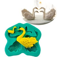 swan silicone soap mold chocolate jello pudding mould fondan...