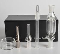 Nuovo kit per collezione di nettare di vendita caldo 1.0 Micro NC 14mm o 19 mm con vetro titanio per unghie Tubo per nettare Tubo per fumare l'acqua di titanio