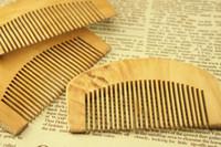 مشط خشبي طبيعي لحية الشعر فرشاة جيب الخشب أمشاط الشعر تدليك هار الرعاية أداة التصميم