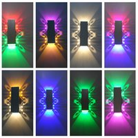 Colorful 2W Novelty Wall Lamps Aluminum Material High Power ...