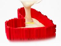 20sets / lot 4pcs / set DIY Magic Silicone Bakeware Cuadrado redondo forma de corazón Pastel de hornear Bake Bake Bake Snake Hornear Herramientas de pastelería