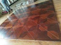 Grosshandel Merbau Holz Naturol Polygon Dekorativer Holzboden