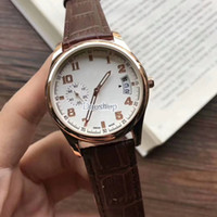 Mens Leather Watches Luxury Casual sea Quartz Watch Men Mili...
