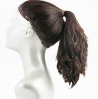 Чудо-парик, 100% Европейский Virgin Hair Sports Bandfall, парик хвостик, Unprocess европейских волос (кошерный парик) бесплатная доставка