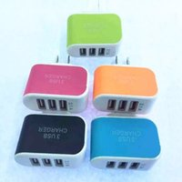 3.1A LED ravel Power Adapter Ladegerät Triple USB Port Wand Home Reise AC Ladegerät Adapter Für Samsung HTC EU Stecker US Stecker Heißer Verkauf