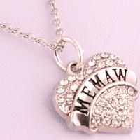 Новое поступление горячий продавать родием цинк шипованных с игристых кристаллов MEMAW сердце кулон ожерелье цепь