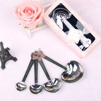 Heart- shaped Measuring Spoons Suit Stainless Steel 4pcs set ...
