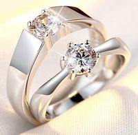 Anelli di coppia Diamante Diamante S925 PT Wedding Fashion Engagement Anniversary Collana all'ingrosso Collana Torque Solitaire Lady Designer It Rock Crystal Donne Paris EUR US