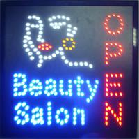 heißer Verkauf Schönheitssalonspeicher LED öffnen Zeichen 19x19 Zollbadekurortfriseurnagelgeschäftsgesichtsbehandlungsgeschäftsleuchtreklame geführte Anschlagtafeln Großverkauf