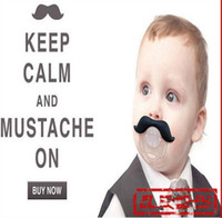 Baby-Silikon-Schnuller lustige nette Zähne Schnurrbart-Baby-Mädchen-Säuglingsschnuller-orthodontische blinde Bart-Nippel-Schnuller-Safe Freies Verschiffen