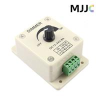 2PCS 12V 24V DC 8A 96W Single Color Knob LED Dimmer Controller for 3528 5050 2835 5630 3014 LED Strip Lights