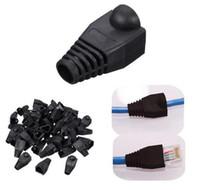 1000шт черный загрузки крышка штекер головки для RJ45 Cat5/6 кабель разъем модульной сети