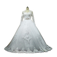 Romantic Sweetheart Lace Tulle Ball Gown Wedding Dress With ...