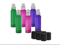 Ролл - на стеклянные бутылки, 10 мл пустой ароматерапия эфирные масла, флаконы для духов, многоразового бутылки тонкий с металлическим шариком и черной пластиковой крышкой
