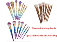 7PCS Color Mermaid Diamond makeup brushes Eyebrow Eyeliner B...
