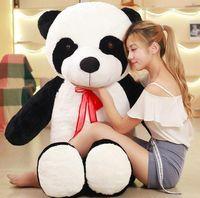 80/100 سنتيمتر لطيف كبير الباندا أفخم لعب محشوة أفخم PP القطن الحيوانات دمية الباندا دمية هدية عيد ميلاد