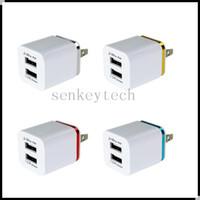 5V 2.1a Dual USB USB US $ UE Plug 2 Portas USB AC Adaptador de Energia Celular Telefone Célula CHAGER PARED CARREGANHA PARA TELEFT TELEFONE SMART MP3 MP4