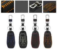 High quality Genuine Leather Remote Control Car Key Case wallet Bag Cover Fit For Ford Explorer