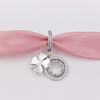 Otantik 925 Ayar Gümüş Boncuk Şanslı Günü, Cz Cz Charms Avrupa Pandora Tarzı Takı Bilezikler Kolye Uyar 792089cz
