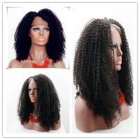 Дешевые торговля 6A длинные кудрявый вьющиеся полный кружева парик Девы монгольский кружева фронт парик кудрявый вьющиеся парики человеческих волос для черных женщин