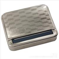 Kamuflaj Metal Tütün Rolling Makinesi Kutu Silindir vaka Sap Sigara Sigara Tabakası 78mm Paslanmaz çelik Kağıtlar Araçları