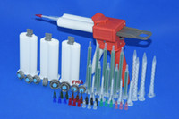 Latest style Chinese red 50ML AB glue cartridge 2: 1 1: 1 Manual Dispense Gun with Cartridge combinations