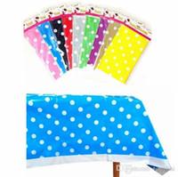 Polk Dot Toalha De Mesa De Plástico Tablecover Baby Shower Birthday Party Abastecimento Decoração Toalha De Mesa H210501