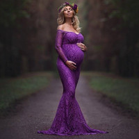 2017 New Style Maternity Dress Photo Shoot Maxi Maternity Go...